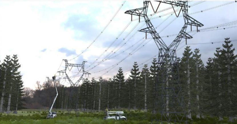 High voltage power work