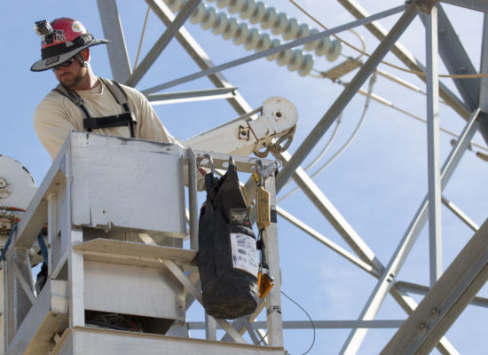 Lineman working at height